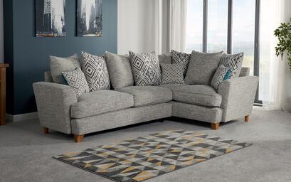 Corner Sofas L Shaped Sofas In Leather Fabric Scs