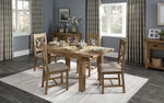 Cruz 1.25m Extending Dining Table & 4 Button Back Chairs