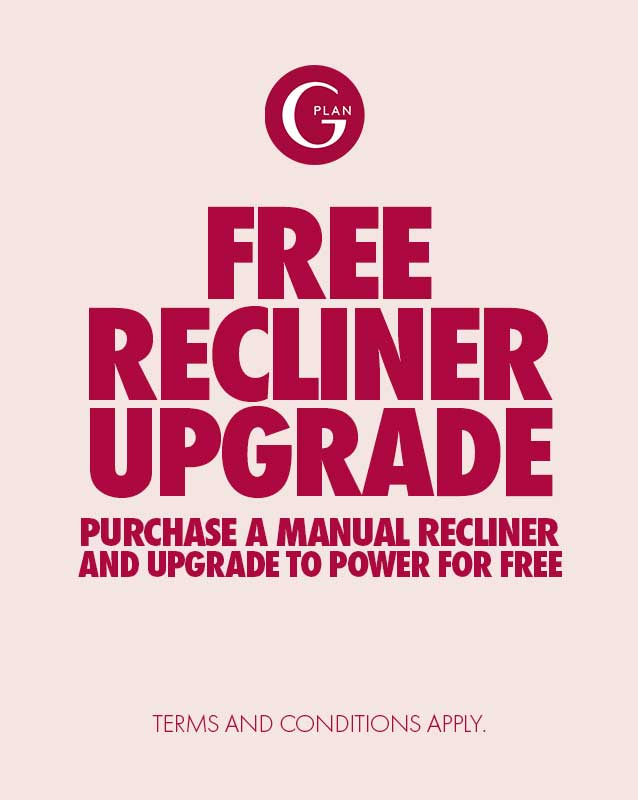 Free Power Upgrade on Selected G Plan Manual Recliner Sofas