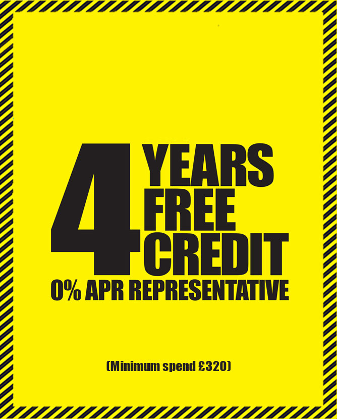 4 years interested free credit, T&C's apply.