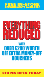 Up to half price sofas and carpets