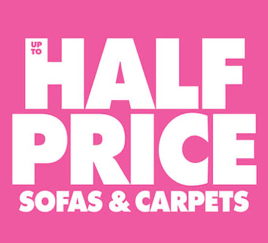 Half price sofas and carpets