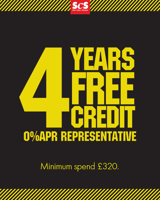 4 Years Interest Free Credit Available on All Furniture Orders