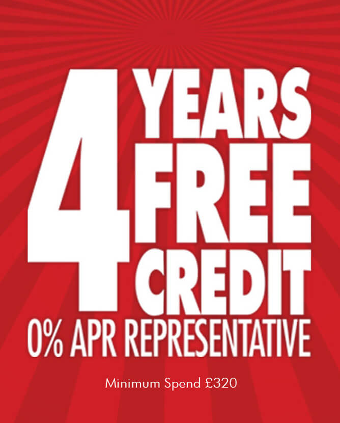 4 Years Interest Free Credit Available on All Sofas