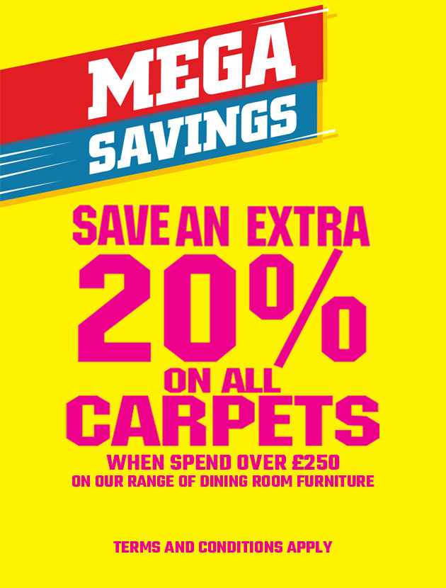 Save an extra 20% on all carpets