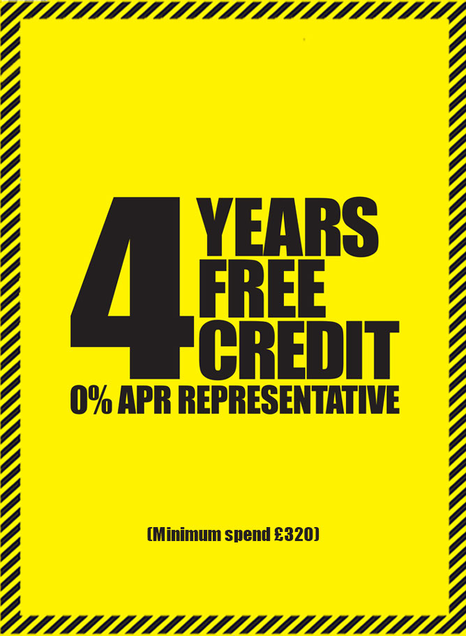 4 Years Interest Free Credit Available on All Flooring