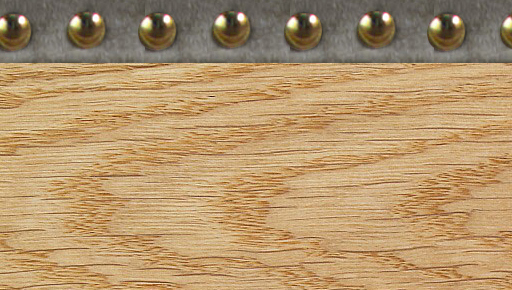 Light Wood With Gold Studs