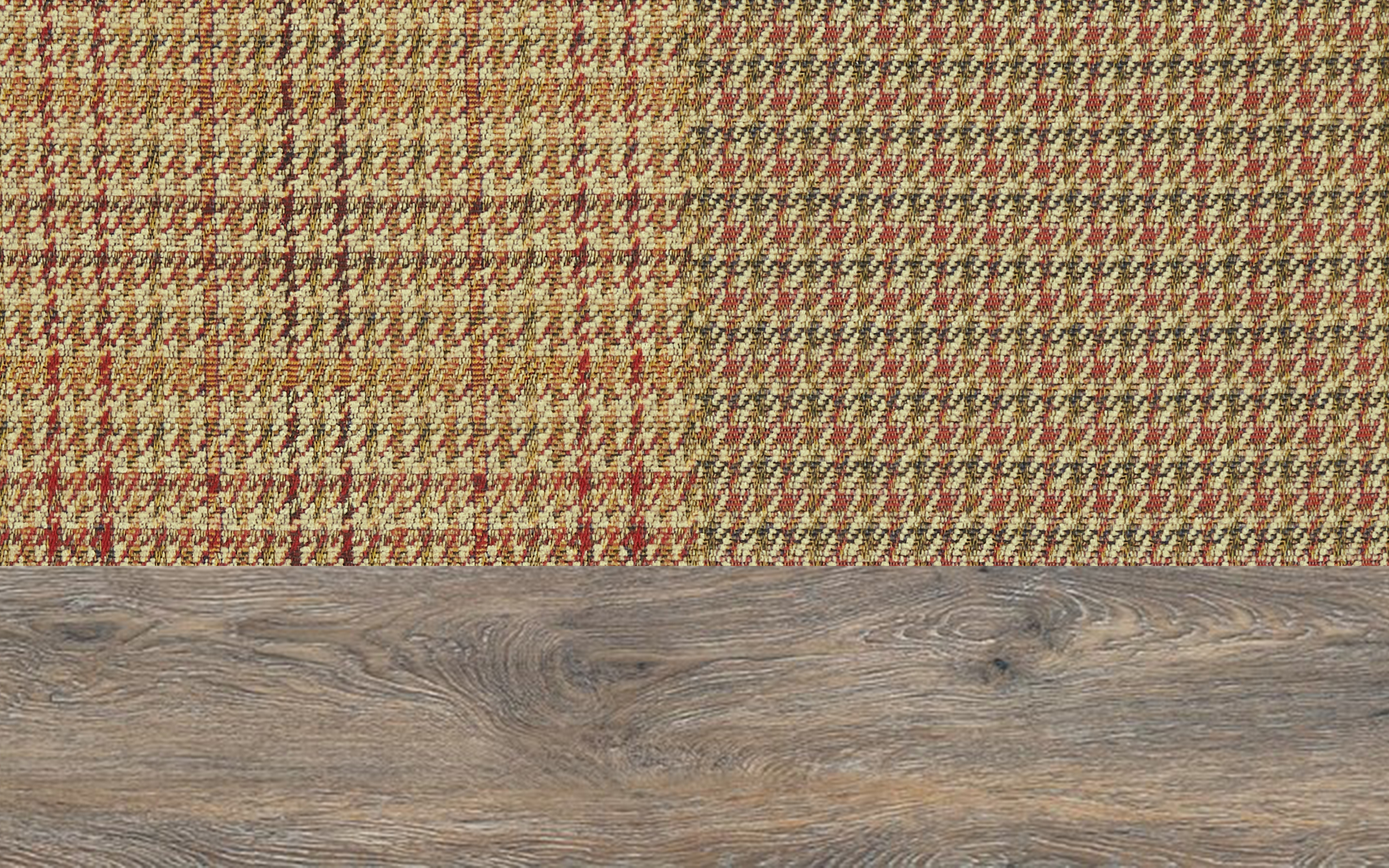Patchwork Vintage Scatter With Weathered Oak Feet