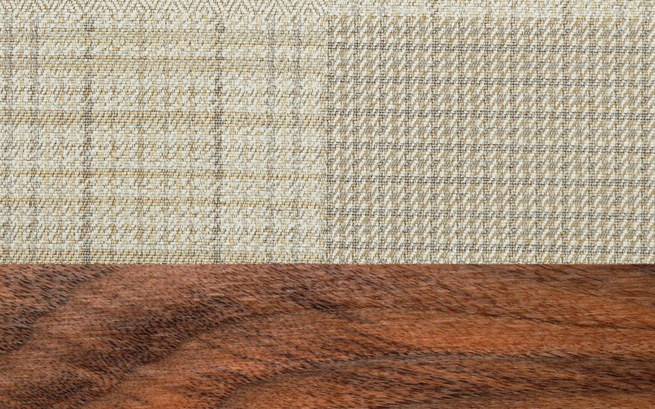 Patchwork Natural Scatter With Dark Wood Feet