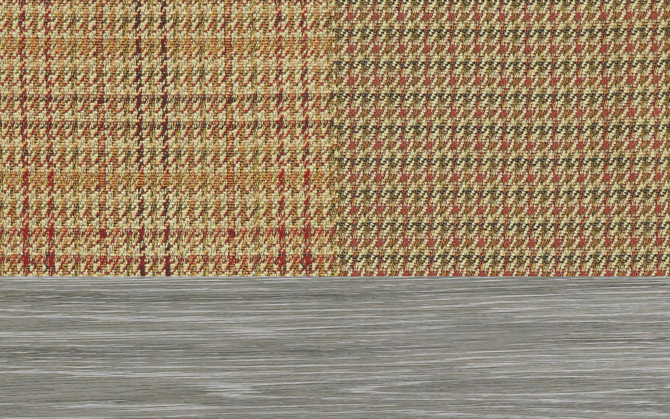 Patchwork Vintage Scatter With Limed Wood Feet