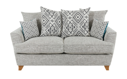 Freya 2 Seater Sofa Scatter Back, Pearson Collection Silver/Option 1, small