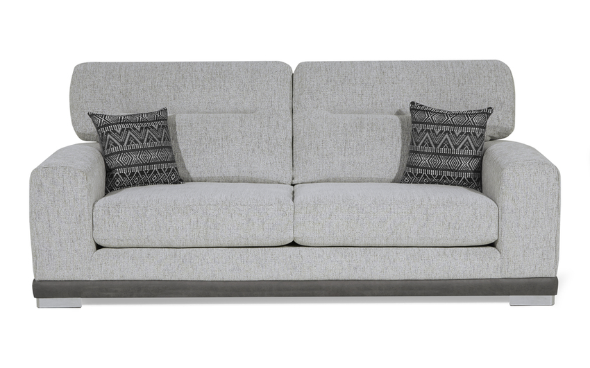 Ariel 3 Seater Sofa Standard Back, Jager Collection Silver/Option 2, large