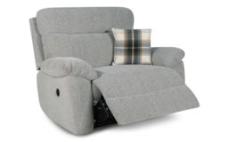 Cloud Love Seat Power Recliner, Cloud Collection Silver, small