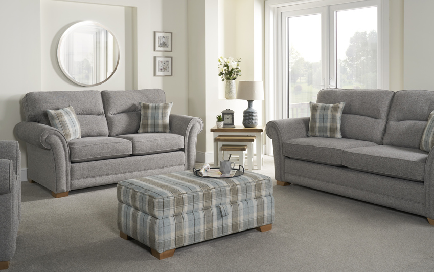 Inspire Roseland 2 Seater Sofa Bed Scatter Back, , large
