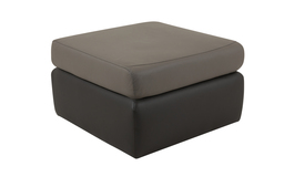 Pluto Footstool, G10 L.grey/G10 D.grey/Self Stitch, small