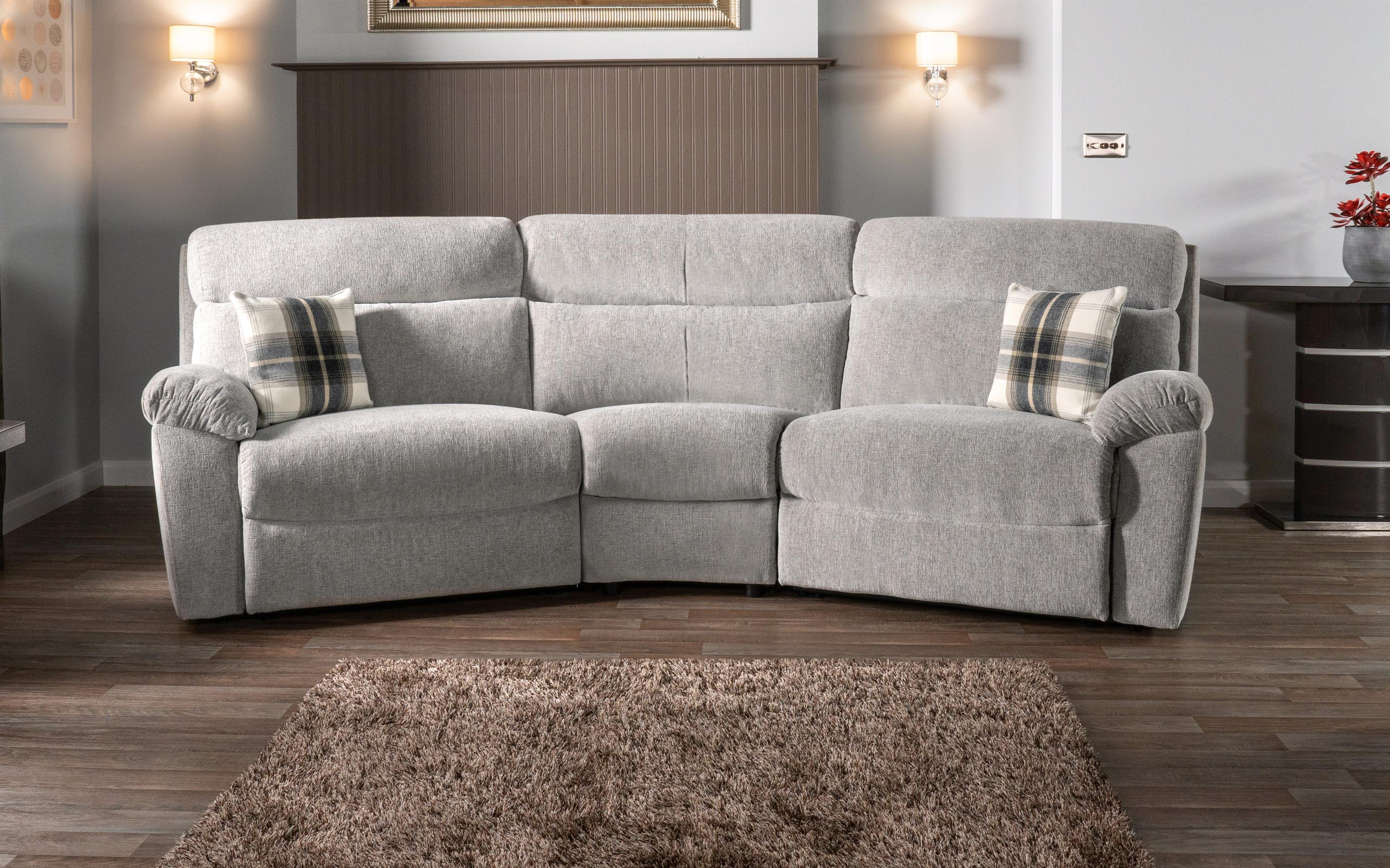 Cloud 4 Seater Curved Static Sofa