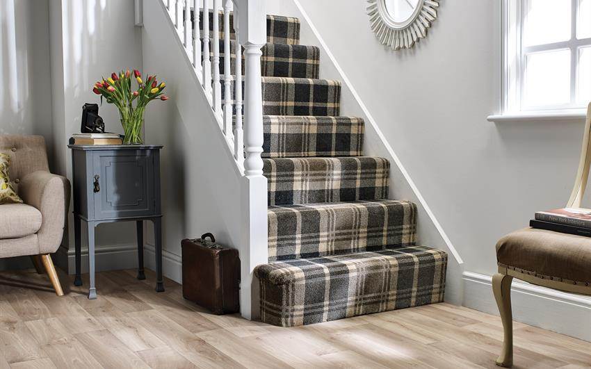 Roger Fells Campbell Town Tartan Carpet, , large