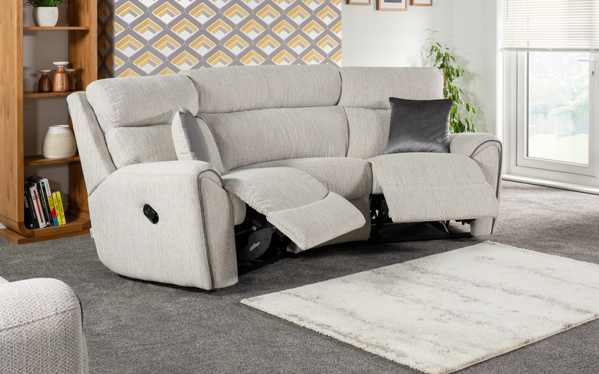 La-Z-Boy Pittsburgh Compact Curved Manual Recliner Sofa