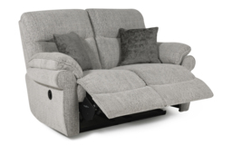 Kelbrook 2 Seater Power Recliner Sofa, Pendle Soft Stone, small