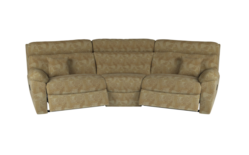 Cloud 4 Seater Curved Manual Recliner Sofa