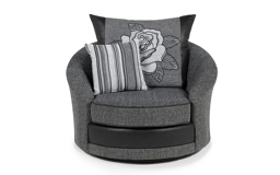 Monty Twister Chair, Lis Slate/City Flo-stri Char/Hip-mel Blk, small