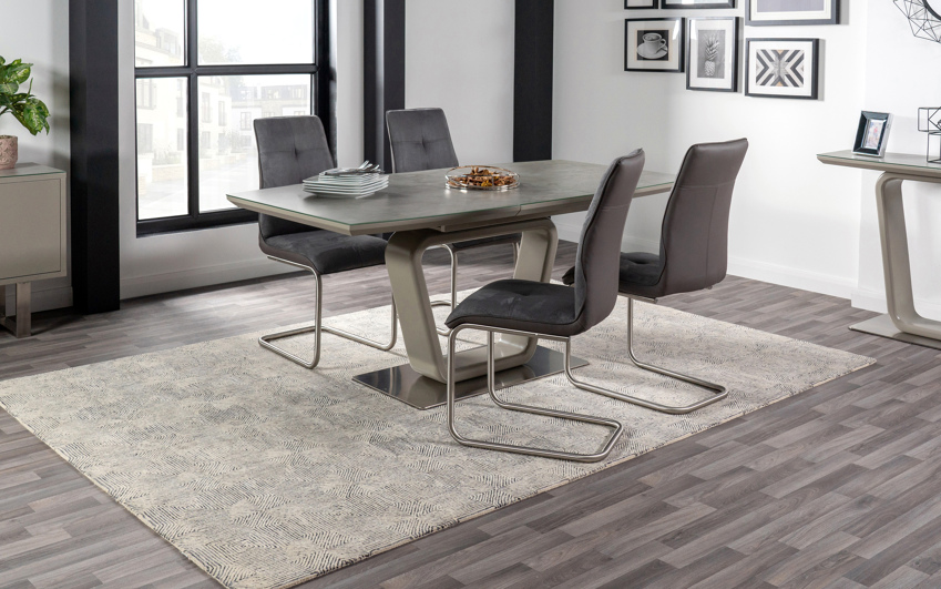 Turin Dining Table and 4 Chairs, , large