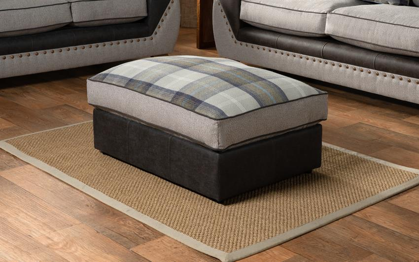 Derwent Patterned Footstool