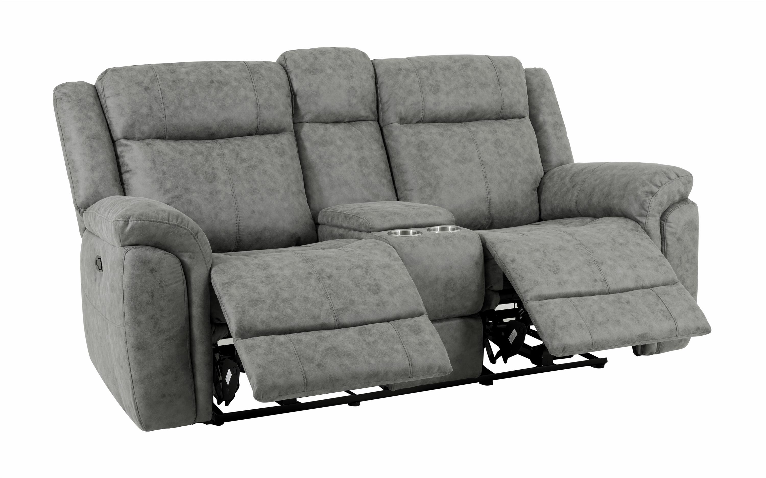Endurance Myst 2 Seater Manual Recliner Sofa With Console, , large