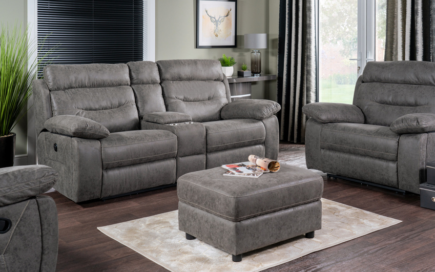 Endurance Alexander 2 Seater Power Recliner Sofa With Console, , large