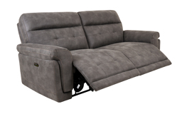 Endurance Pepe 3 Seater Power Recliner Sofa, Jet Endurance Blue/Beige Stitch, small