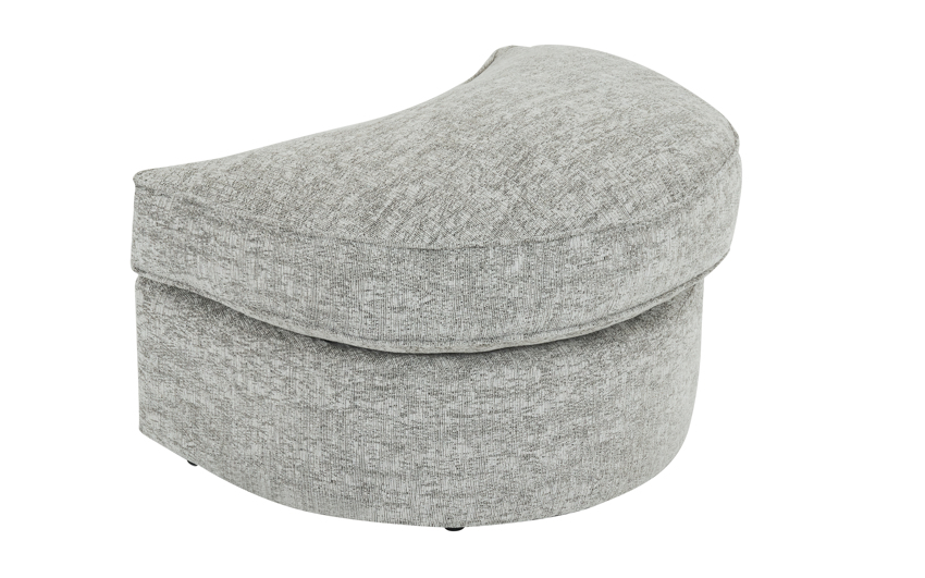 Freya Twister Footstool, Sydney Silver All Over, large