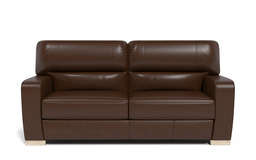Sisi Italia Lucca 3 Seater Sofa, New Montefeltro 2941 Brown/Self Stitch, small