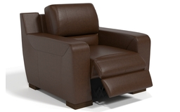 Sisi Italia Lucca Power Recliner Chair, New Montefeltro 2941 Brown/Self Stitch, small