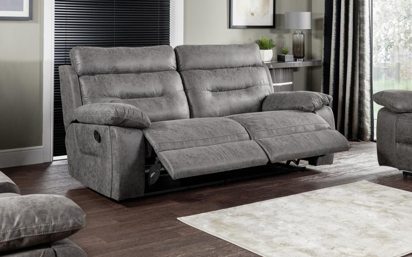 Endurance Alexander 3 Seater Manual Recliner Sofa