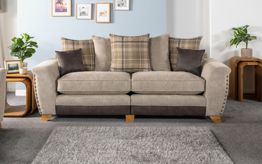 Tucsin 4 Seater Sofa Scatter Back