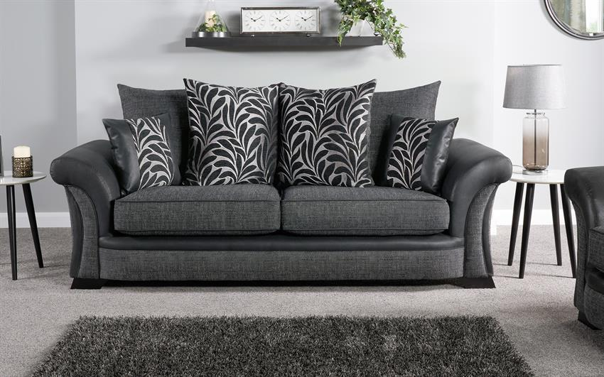 Hallie 3 Seater Sofa Scatter Back
