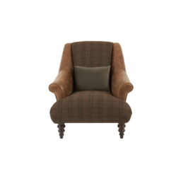 Tetrad Harrogate High Back Chair, Galv Bark/Ht Nevis Earth Check Opt 2, small