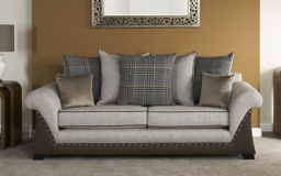Highlander 3 Seater Sofa Scatter Back