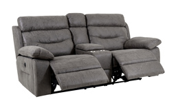 Endurance Alexander 2 Seater Power Recliner Sofa With Console, , small