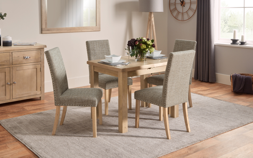 Romeo Pair of Cross Back Dining Chairs, , large