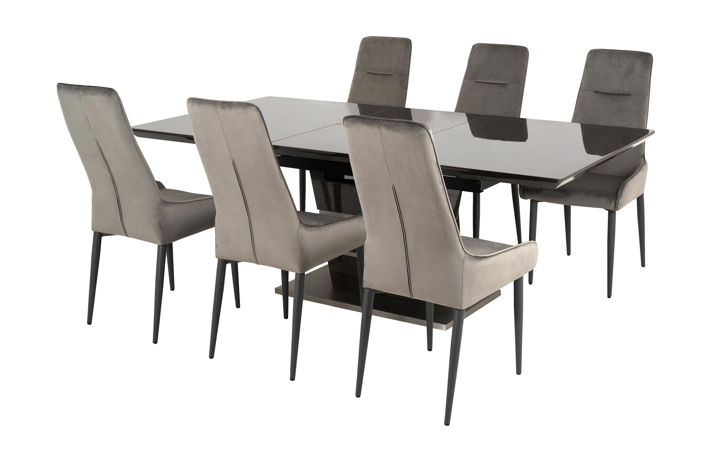 Sisi Italia San Pietro 1.6m Extending Dining Table & 6 Arm Chairs