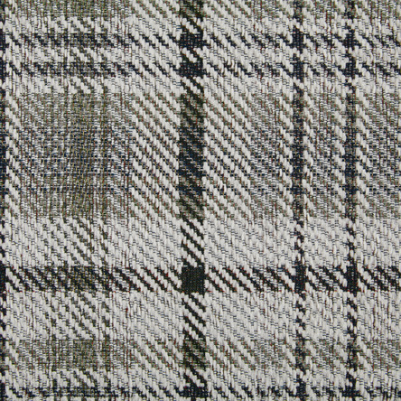7548 Ivory/Chocolate/Slate Plaid Chenill