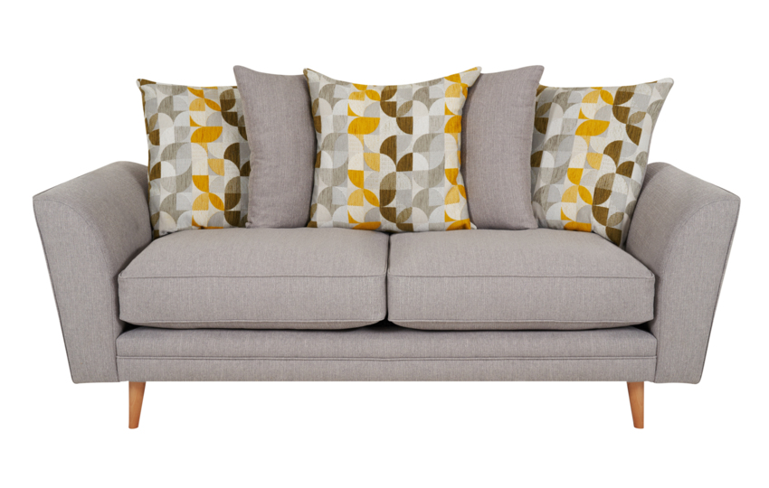 Zeus 3 Seater Sofa Scatter Back