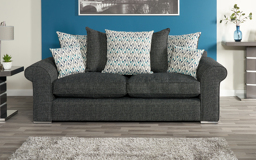 Quinn 3 Seater Sofa Scatter Back, , small