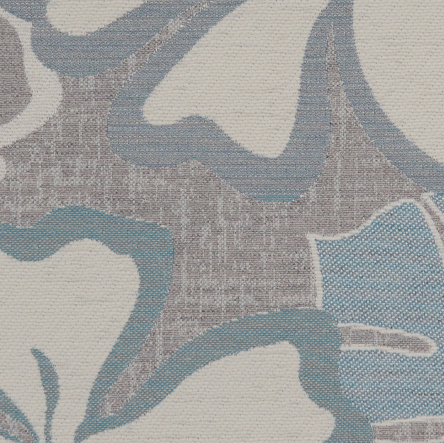 9872 Sky/Taupe Exotic Floral