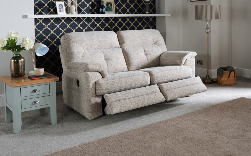 G Plan Stanton 2 Seater Power Recliner Sofa Double