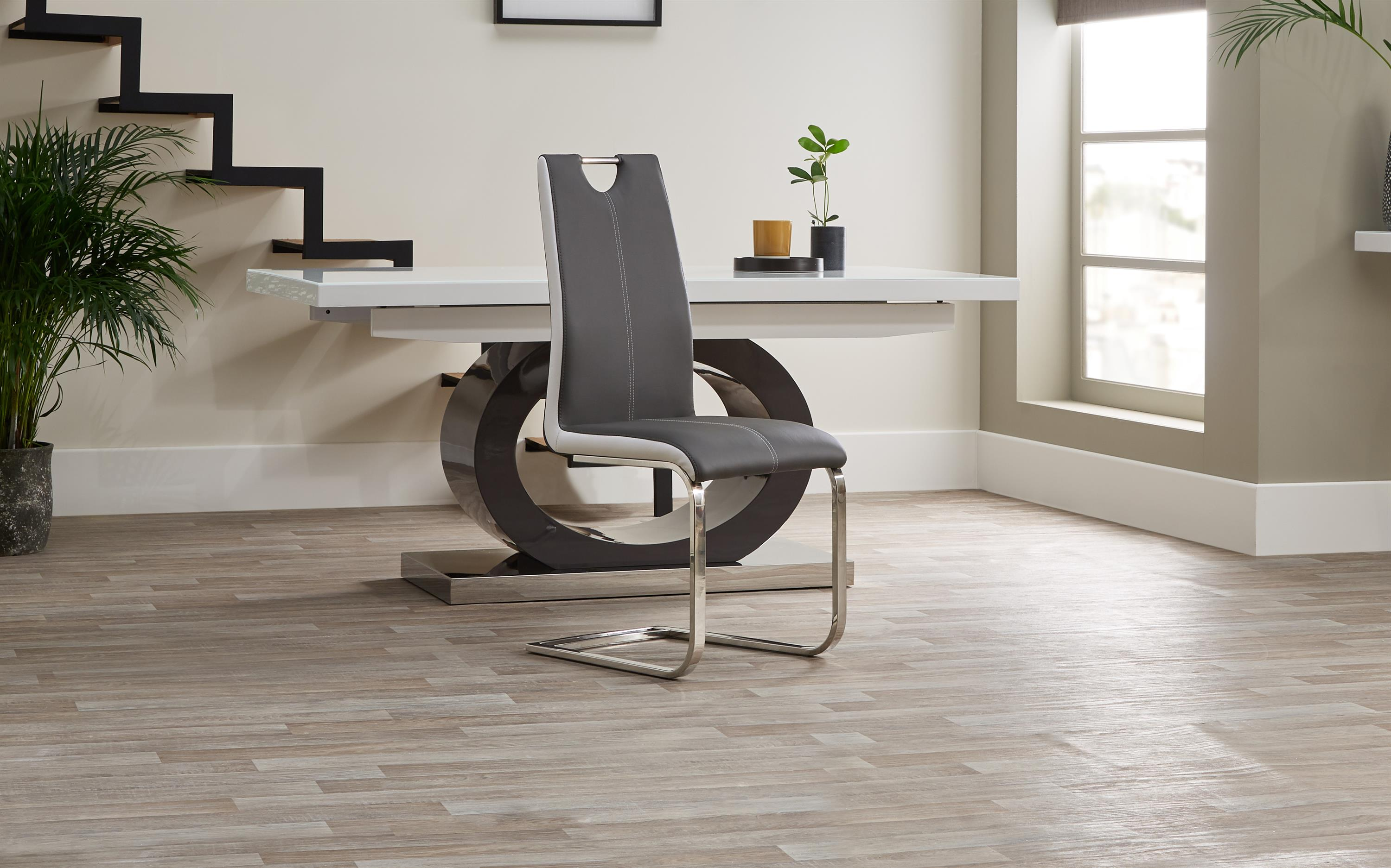 Tokyo White & Grey Dining Chair