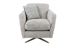 Freya Plain Swivel Chair, Pearson Collection Silver/Option 2, small