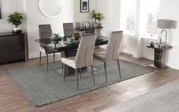 Sisi Italia San Pietro 1.6m Extending Dining Table & 4 Arm Chairs, , small