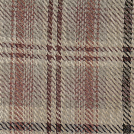 7541 Red/Stone Plaid Chenille